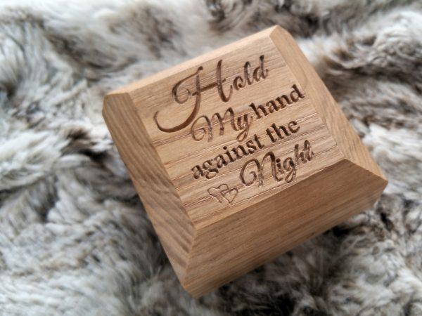 Personalise engagment ring box engraving