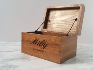 Personalised Pet Memorial Box | Sapele & Spalted Beech