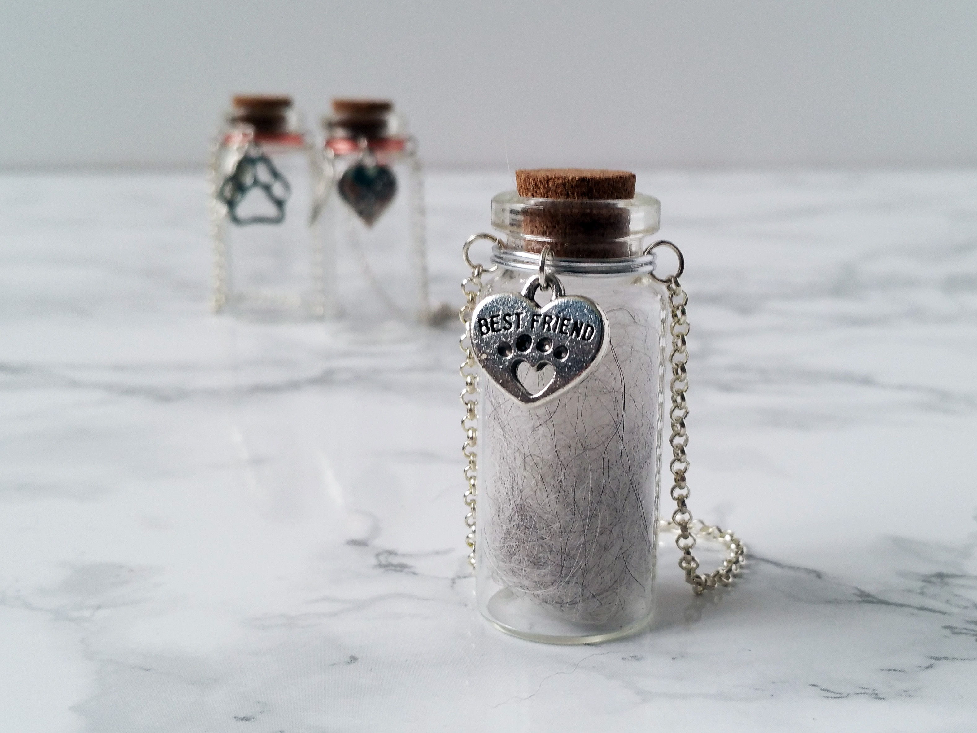 Pet Memorial Urn | Glass Vial for Ashes or Hair | Pet Loss Gift