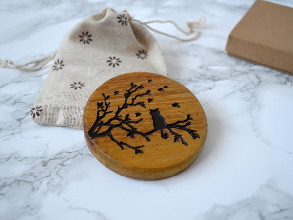 Curly Tailed Cat Compact Mirror