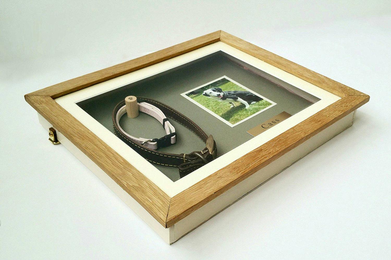 pet memorial shadow box frame oak yewleaf wishes. Black Bedroom Furniture Sets. Home Design Ideas