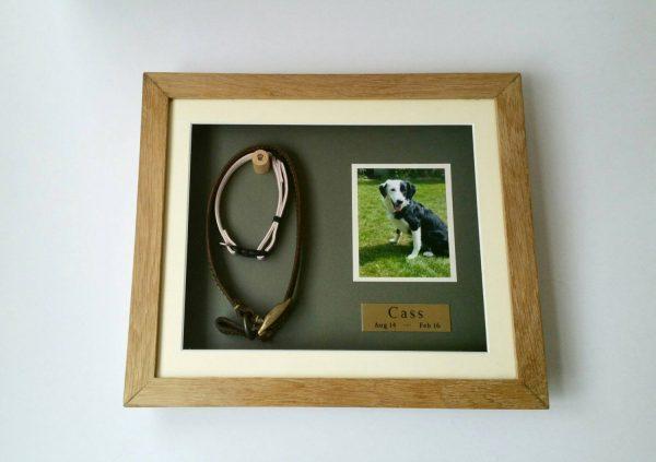 Medium Oak Pet memorial frame front