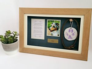 Pet Memorial Shadow Box Frame | Panoramic