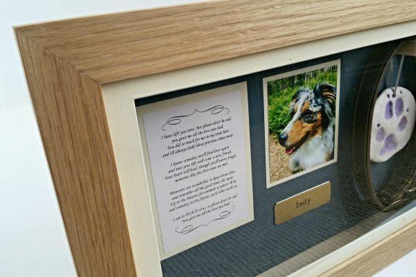 Pet Memorial Panoramic frame poem