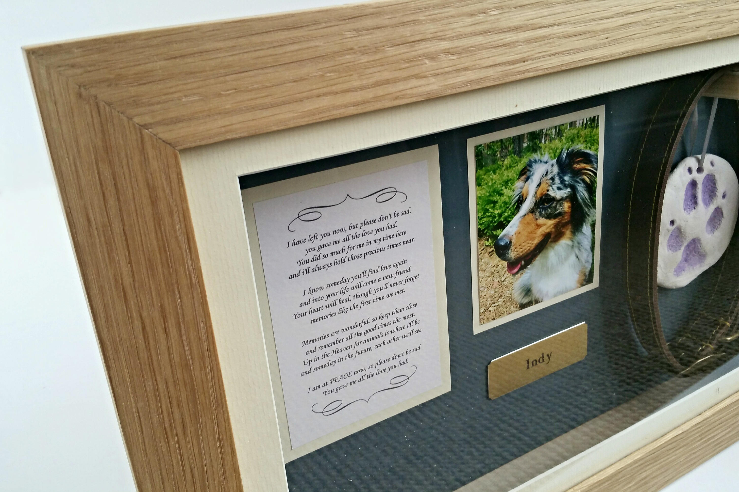pet memorial shadow box frame panoramic yewleaf wishes. Black Bedroom Furniture Sets. Home Design Ideas