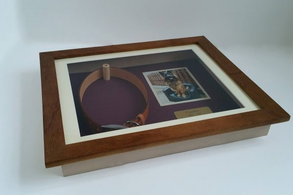 Pet Memorial shaddow box frame Iroko Flat