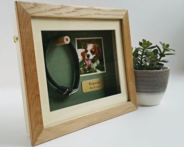 Small Oak Pet memorial frame