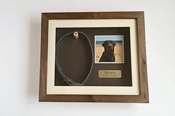 Walnut Medium pet memorial frame front