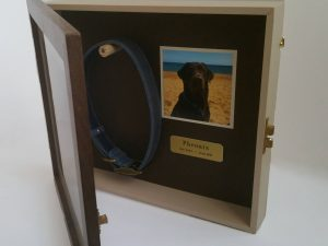 Pet Memorial Shadow Box Frame | Walnut