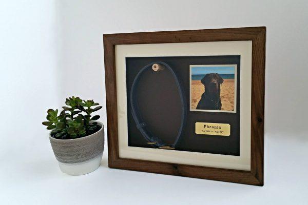 Walnut Medium pet memorial frame main