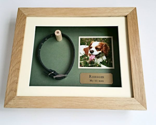 Small Oak Pet memorial frame front
