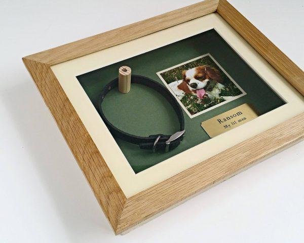 Small Oak Pet memorial frame side