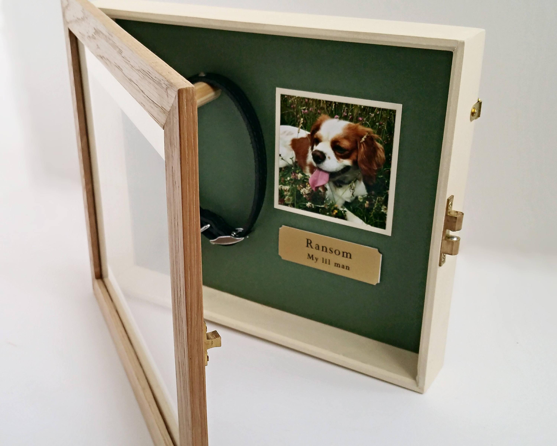 Pet Memorial Shadow Box Frame | Oak – Yewleaf Wishes