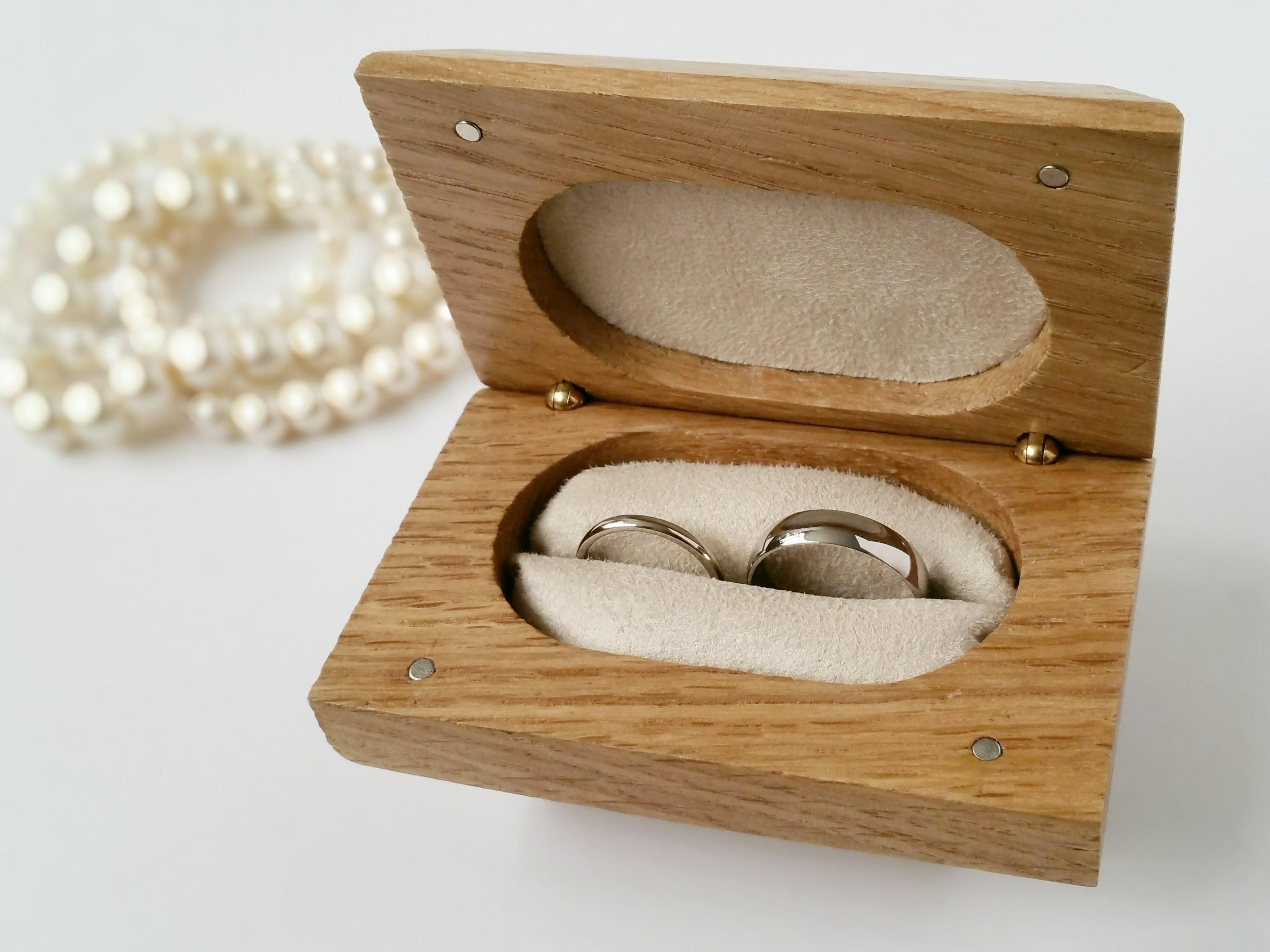 Wedding Ring Box.Ring Bearer Box Personalised Wedding Ring Box Solid Oak