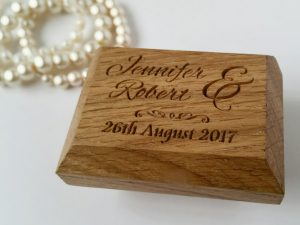 Ring Bearer Box | Personalised Wedding Ring Box | Solid Oak