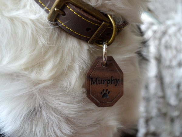 Octagon Wooden Pet Tag