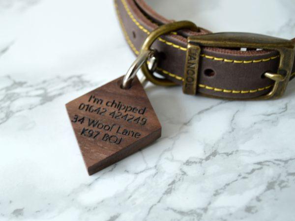 Diamond pet tag