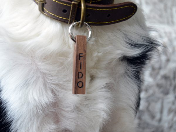 Bar Pet tag Walnut dog