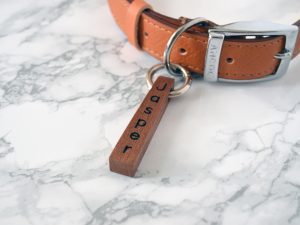 Bar Pet Tag | Engraved Wooden Dog Tag