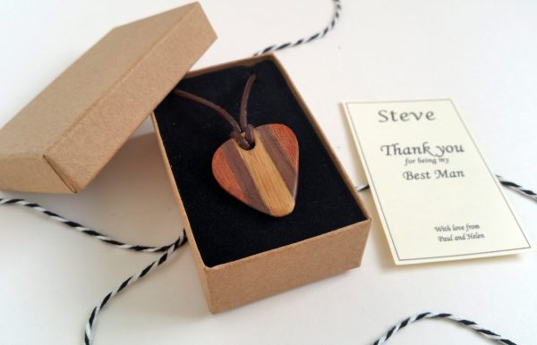Personalised Wooden Plectrum Necklace